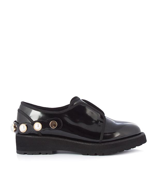туфли из лаковой кожи черного цвета артикул DI1DX17017 марки Suecomma Bonnie купить за 14500 руб.