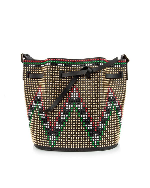 сумка из натуральной кожи, декорирована заклепками артикул DLG-V10 марки Les petits joueurs купить за 36800 руб.