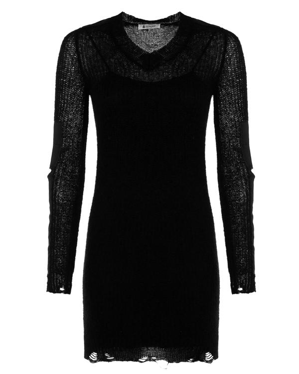 платье мини из вязаного мохера и шерсти артикул DM148 марки DONDUP купить за 24900 руб.