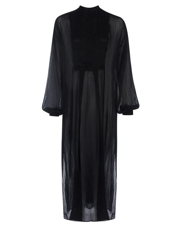 платье макси из полупрозрачного хлопка  артикул DW22F17 марки Isabel Benenato купить за 29000 руб.