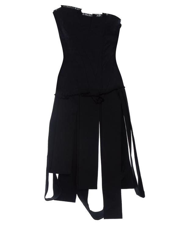 платье корсет из фактурного хлопка артикул DW33F17 марки Isabel Benenato купить за 48400 руб.