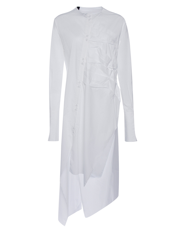рубашка удлиненного силуэта из тонкого хлопка  артикул DW83F17 марки Isabel Benenato купить за 24200 руб.