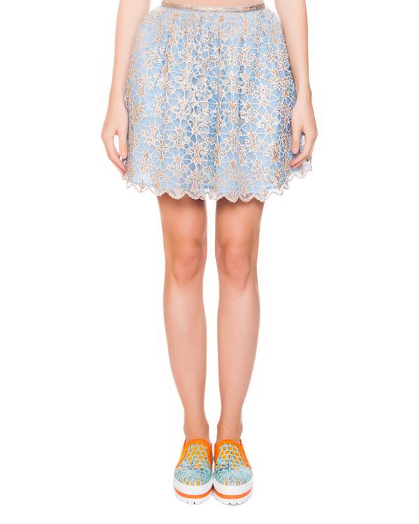 юбка из шелка с ажурным верхним слоем артикул E5ARJU марки Manoush купить за 8400 руб.