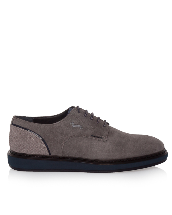 туфли из плотной замши на контрастной подошве артикул E9070 марки Harmont & Blaine купить за 12700 руб.