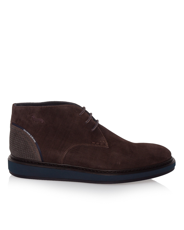 ботинки из плотной замши на шнуровке  артикул E9071 марки Harmont & Blaine купить за 15200 руб.