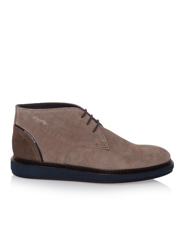 ботинки из плотной замши на шнуровке артикул E9071 марки Harmont & Blaine купить за 10900 руб.