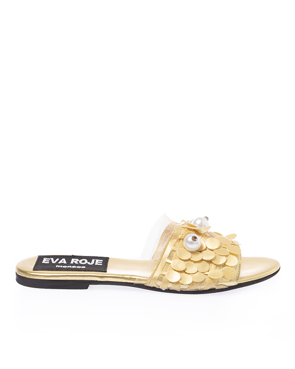 EVA ROJE из кожи с крупными бусинами  артикул  марки EVA ROJE купить за 18000 руб.