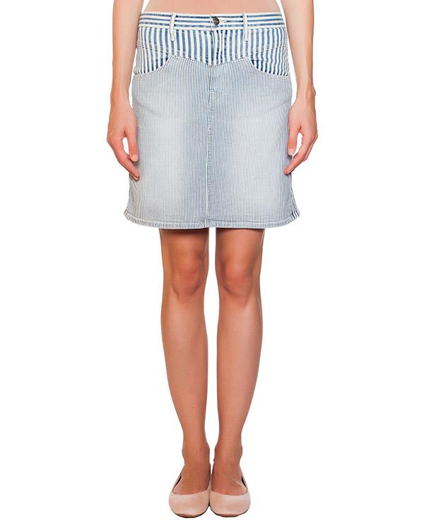 юбка из денима в тонкую полоску артикул F033345X марки Koral купить за 7300 руб.