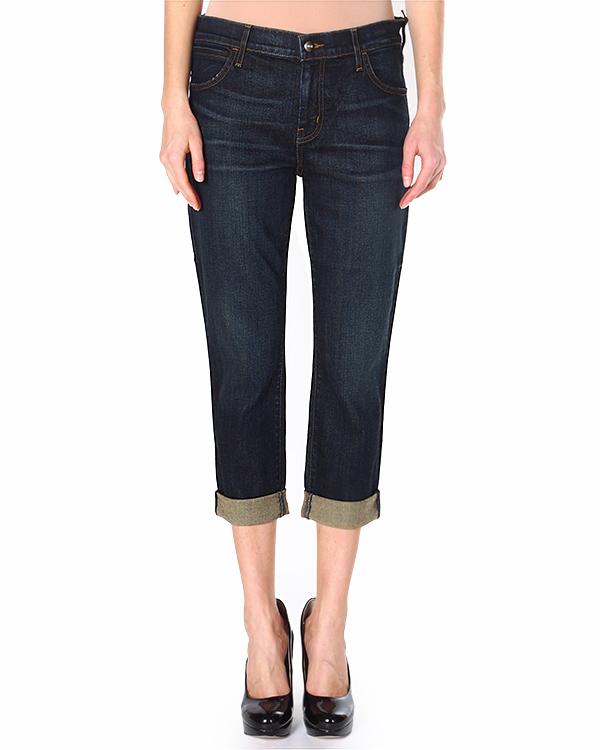джинсы укороченные, с низкой посадкой и отворотами артикул F133050S марки Koral купить за 10900 руб.