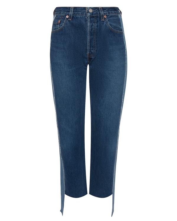 джинсы с высокой посадкой на талии артикул FCFW17121 марки Forte Couture купить за 21100 руб.