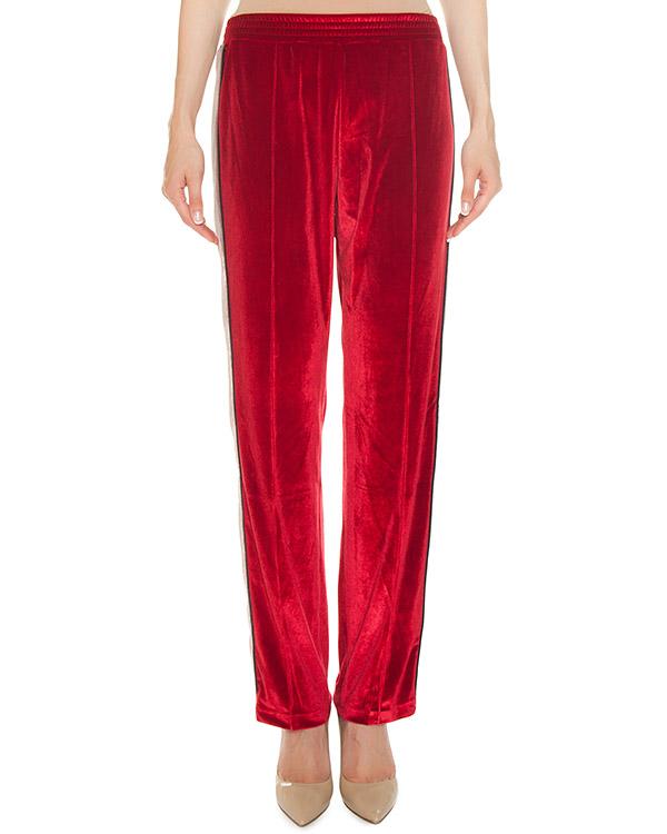 брюки из мягкого бархата с яркими лампасами артикул FCFW1749 марки Forte Couture купить за 13100 руб.