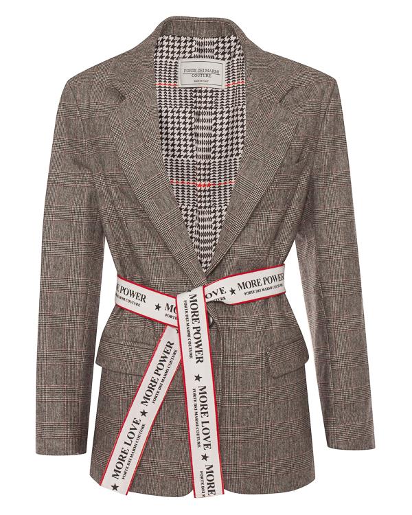 FORTE DEI MARMI COUTURE из костюмной шерсти с брендированным поясом артикул FCFW1868 марки FORTE DEI MARMI COUTURE купить за 29100 руб.
