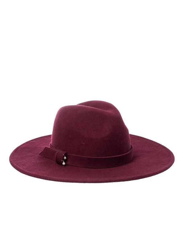 шляпа Saint MAEVE FEDORA-M01 56-58 бордовый