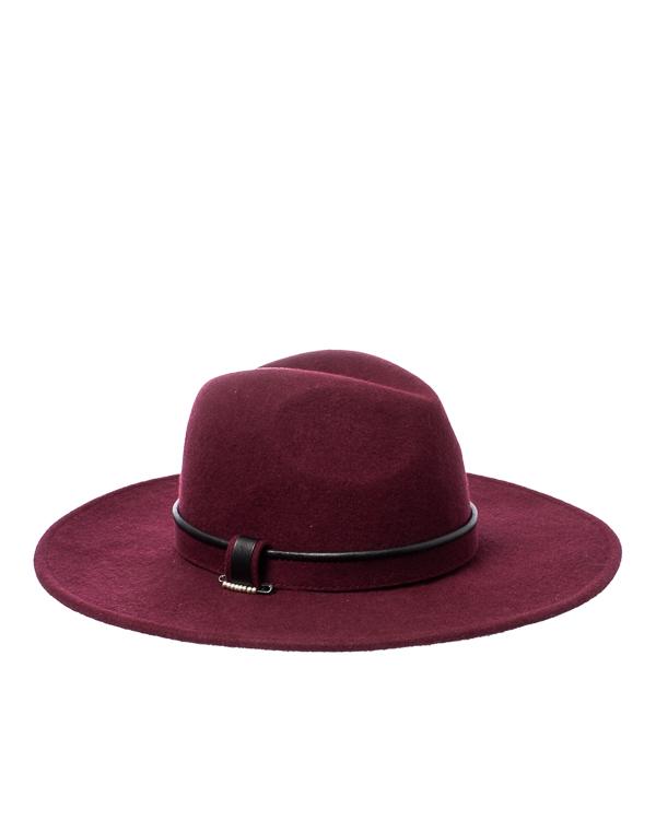 шляпа Saint MAEVE FEDORA-M02 56-58 бордовый