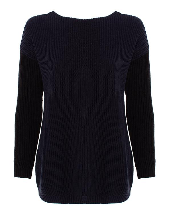 свитер MaxMara_Weekend FINISH m тем.синий+молочный+черный