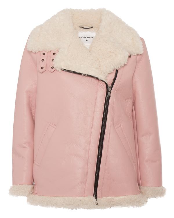 куртка из экокожи с декоративной овчиной  артикул FR141 марки Front Street 8 купить за 31100 руб.