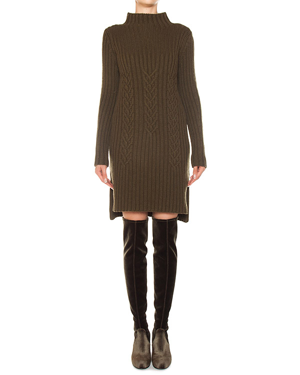 платье из трикотажной шерсти с разрезами артикул FW170044 марки MRZ купить за 25900 руб.