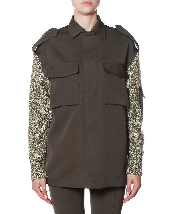 рубашка из плотного кашемира с вязаными шерстяными рукавами артикул FW170275 марки MRZ купить за 47500 руб.