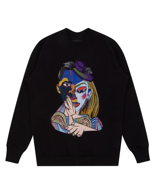 KATЯ DOBRЯKOVA Picasso из хлопка с авангардным принтом артикул FW17274picasso марки KATЯ DOBRЯKOVA купить за 7500 руб.