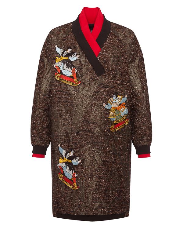 KATЯ DOBRЯKOVA из парчи с вышивкой в японском стиле артикул FW18335skate марки KATЯ DOBRЯKOVA купить за 25500 руб.