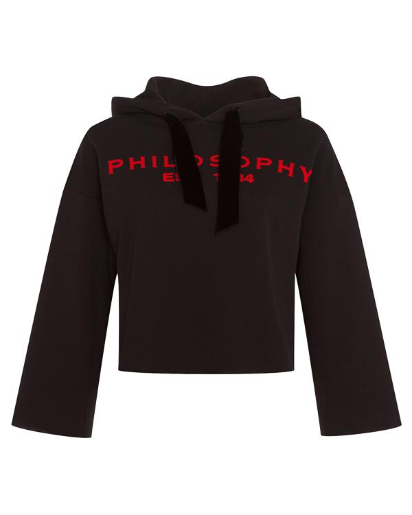 PHILOSOPHY DI LORENZO SERAFINI из трикотажного хлопка с логотипом бренда  артикул GA1706 марки PHILOSOPHY DI LORENZO SERAFINI купить за 25500 руб.