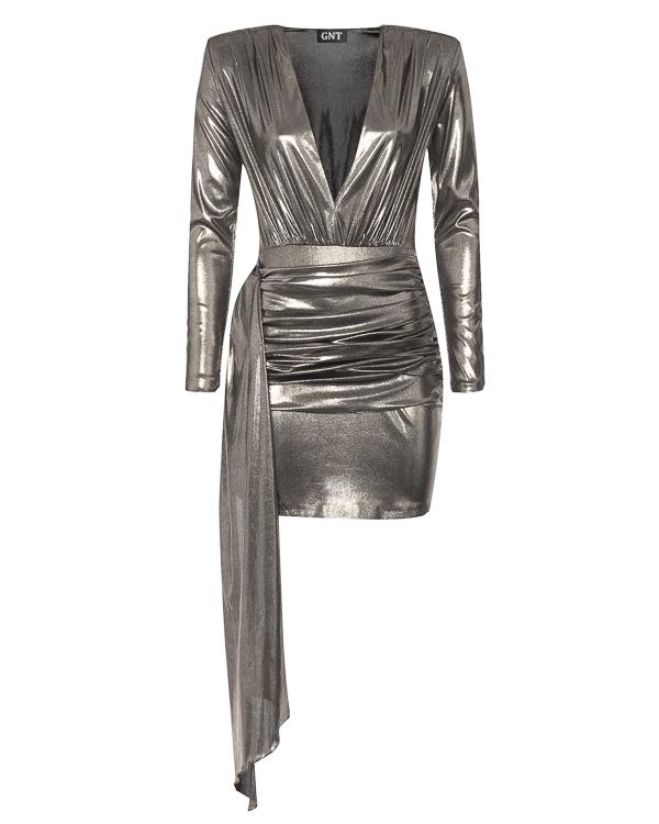 платье из струящегося материала с вырезом-декольте артикул GF18D3A марки Inna Honour купить за 27700 руб.