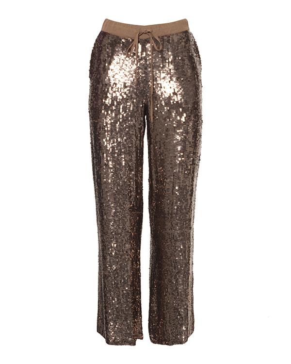 брюки прямого силуэта с отделкой пайетками  артикул GLAST230531 марки P.A.R.O.S.H. купить за 21200 руб.