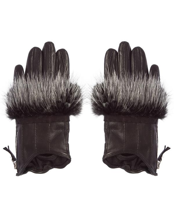 DIMANEU из кожи с отделкой мехом артикул GLDN30951 марки DIMANEU купить за 7500 руб.
