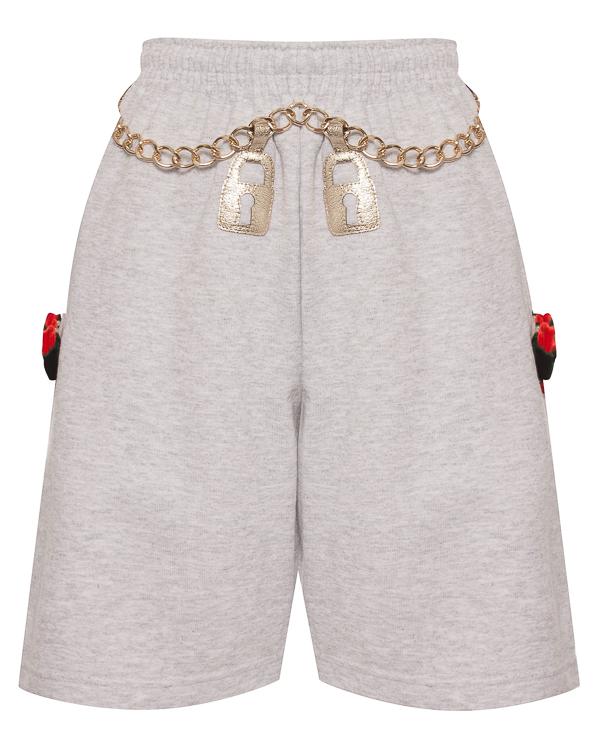 шорты из трикотажного хлопка с яркими акцентами  артикул GOLDEN-CHAIN марки NIL & MON купить за 5000 руб.