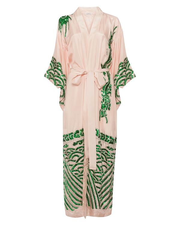 кимоно из атласного шелка с вышивкой из пайеток  артикул GOMODO430640 марки P.A.R.O.S.H. купить за 69500 руб.