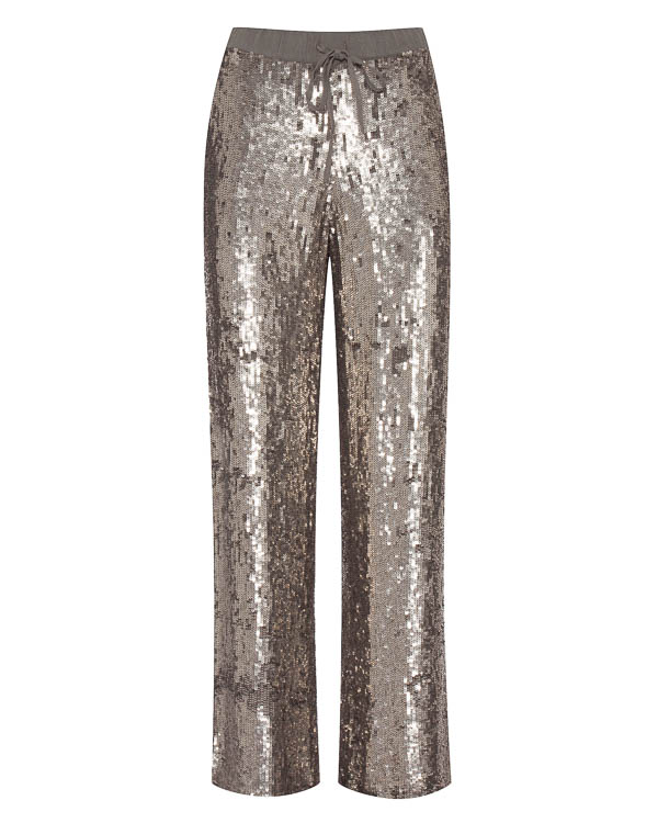 брюки свободного силуэта с отделкой пайетками артикул GUMMER230565 марки P.A.R.O.S.H. купить за 28700 руб.