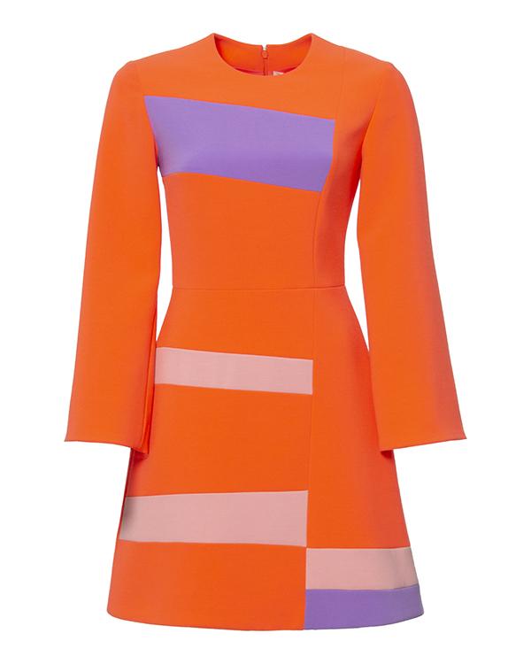 платье из яркой плотной ткани с контрастными цветовыми блоками артикул H815-1 марки Roksanda Ilincic купить за 31700 руб.