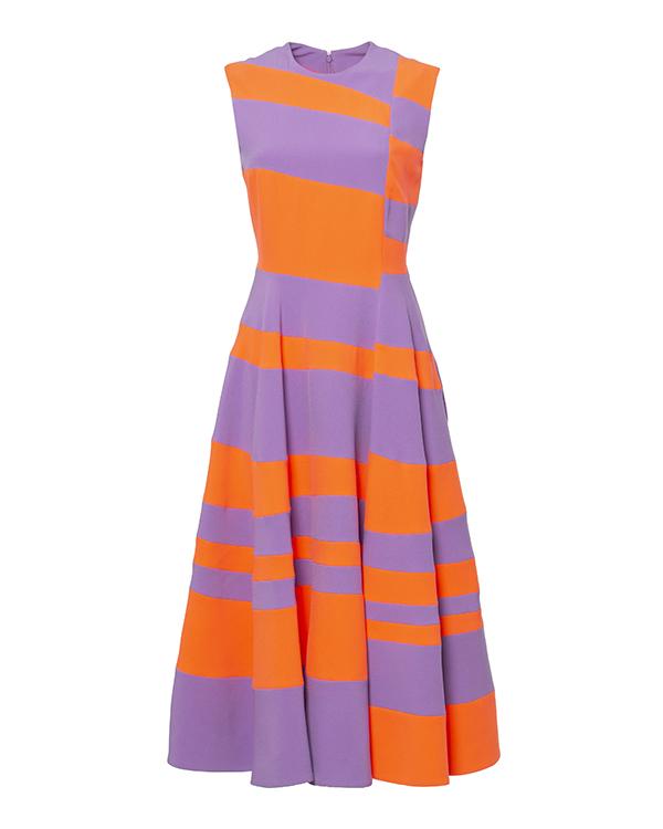 платье из яркой ткани с контрастными цветовыми блоками артикул H833-2 марки Roksanda Ilincic купить за 47300 руб.