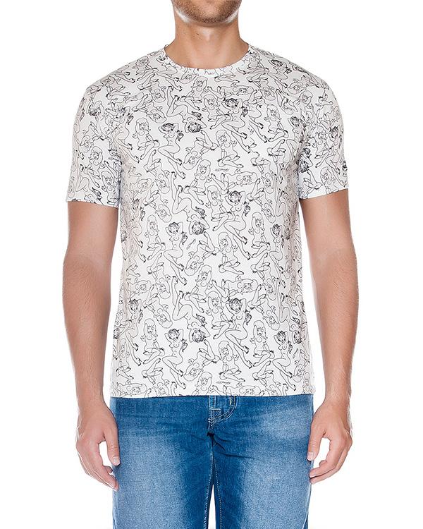 футболка из мягкого трикотажа с оригинальным принтом артикул HEAVENTSHIRT-EDIT10 марки MC2 Saint Barth купить за 5900 руб.