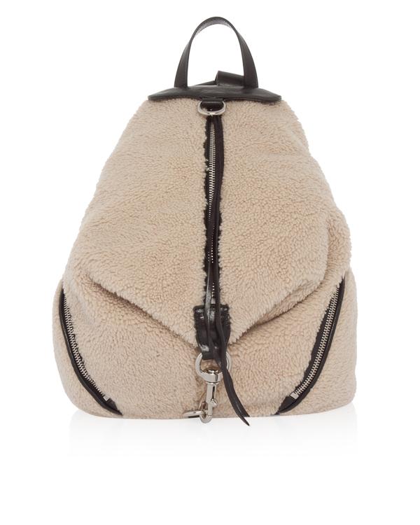 Rebecca Minkoff из декоративного меха с кожаной отделкой  артикул  марки Rebecca Minkoff купить за 34800 руб.