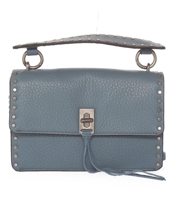 сумка  Darren из шагреневой кожи  артикул HH17FDNM30HB марки Rebecca Minkoff купить за 22100 руб.