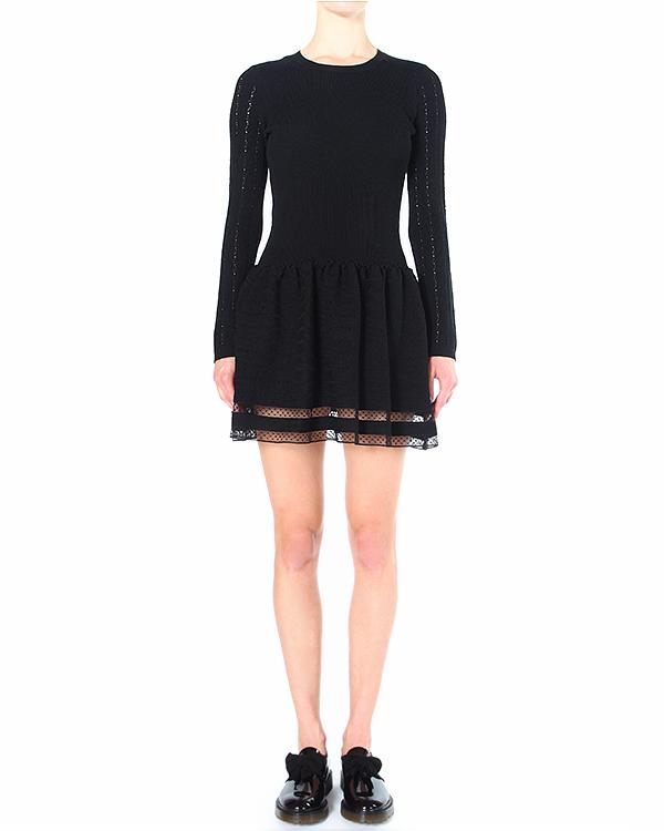 платье украшенное полупрозрачным кружевом по подолу артикул HRA9A322 марки Valentino Red купить за 15200 руб.