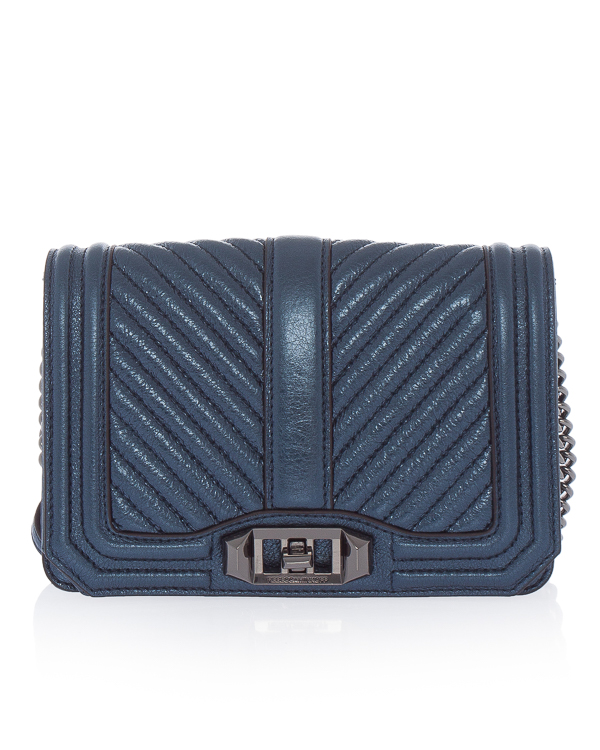 Rebecca Minkoff Chevron Quilted Small Crossbody из кожи  артикул HS18GMTX45 марки Rebecca Minkoff купить за 21600 руб.