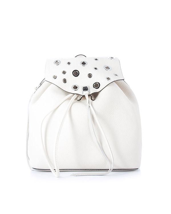 рюкзак Darren из шагреневой кожи артикул HU17EDGB36 марки Rebecca Minkoff купить за 25300 руб.