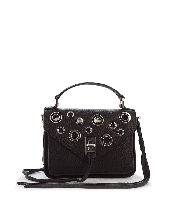 сумка Darren Messenger с отделкой металлическими люверсами  артикул HU17EDGX28 марки Rebecca Minkoff купить за 16500 руб.