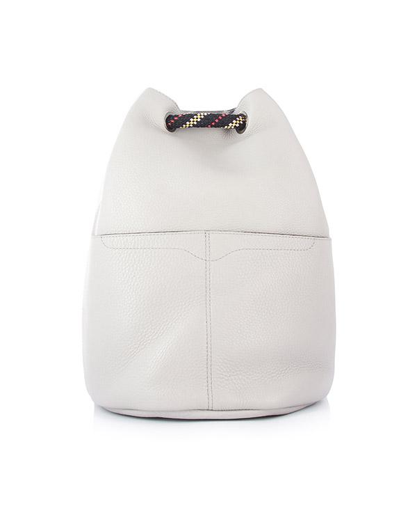 рюкзак Bucket из кожи с веревочными ручками артикул HU17GUPB97 марки Rebecca Minkoff купить за 23400 руб.