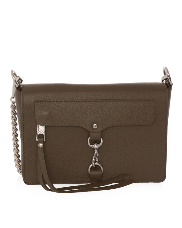 сумка из шагреневой кожи со съемной цепочкой  артикул HU18EGRX20TD марки Rebecca Minkoff купить за 18000 руб.