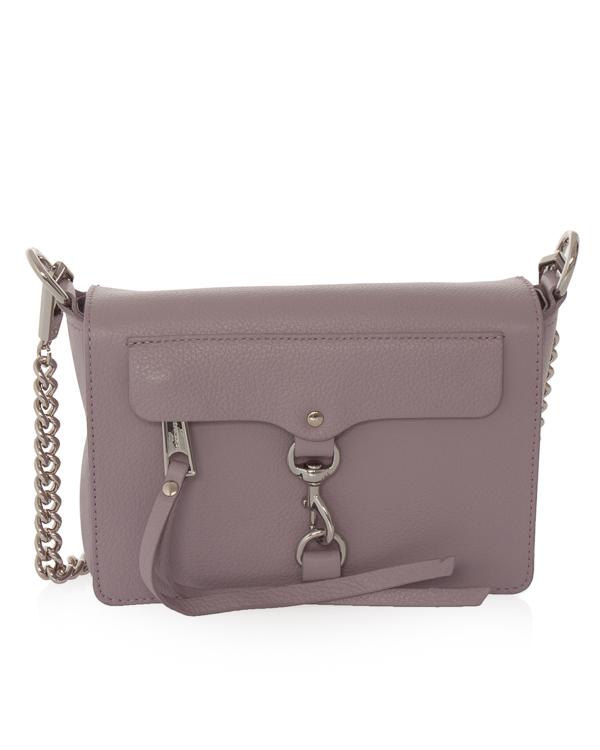 сумка из шагреневой кожи со съемной цепочкой  артикул HU18EGRX82TD марки Rebecca Minkoff купить за 16200 руб.