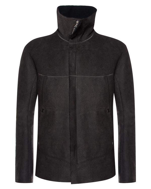 куртка из плотной кожи с воротником-стойкой артикул HUMANOID-CC18 марки Isaac Sellam купить за 110300 руб.