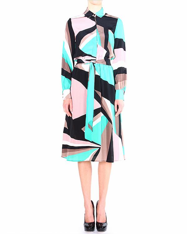 платье с крупным геометрическим принтом артикул I14MAB21-CDS10 марки Marcobologna купить за 17200 руб.