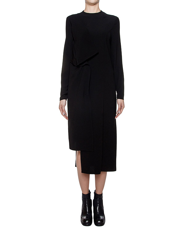 платье асимметричного кроя из плотной ткани артикул I16I40365 марки MALLONI купить за 11800 руб.