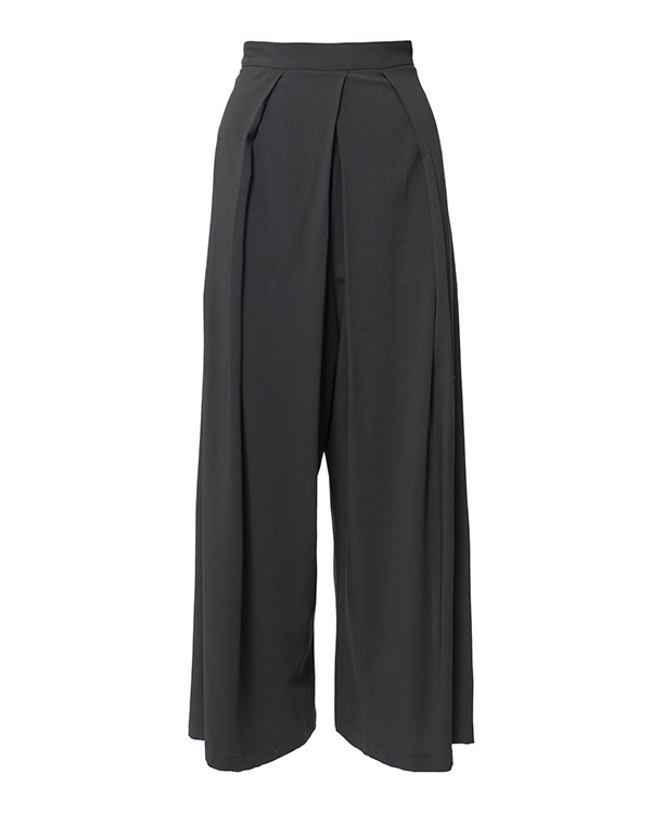 Isabel Benenato широкие из шерсти и вискозы декорированы складками и драпировкой артикул IB3104 марки Isabel Benenato купить за 16100 руб.