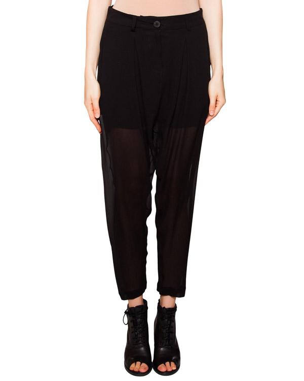 брюки свободного кроя из полупрозрачного шелка артикул IB3234 марки Isabel Benenato купить за 20800 руб.