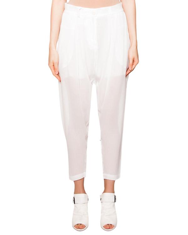 брюки свободного кроя из полупрозрачного шелка артикул IB3234 марки Isabel Benenato купить за 29100 руб.