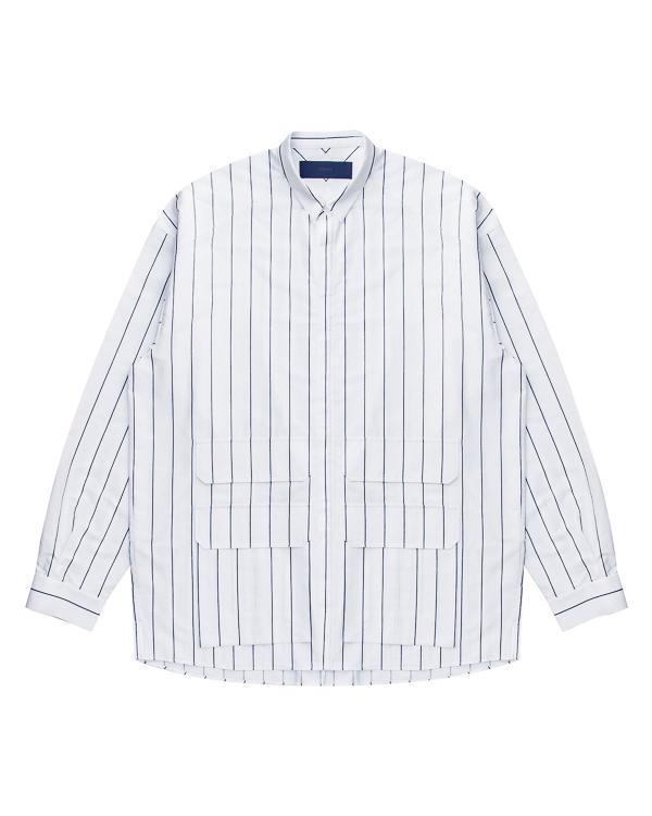 рубашка из хлопка с накладными карманами артикул JC7964P021 марки Juun.J купить за 20200 руб.